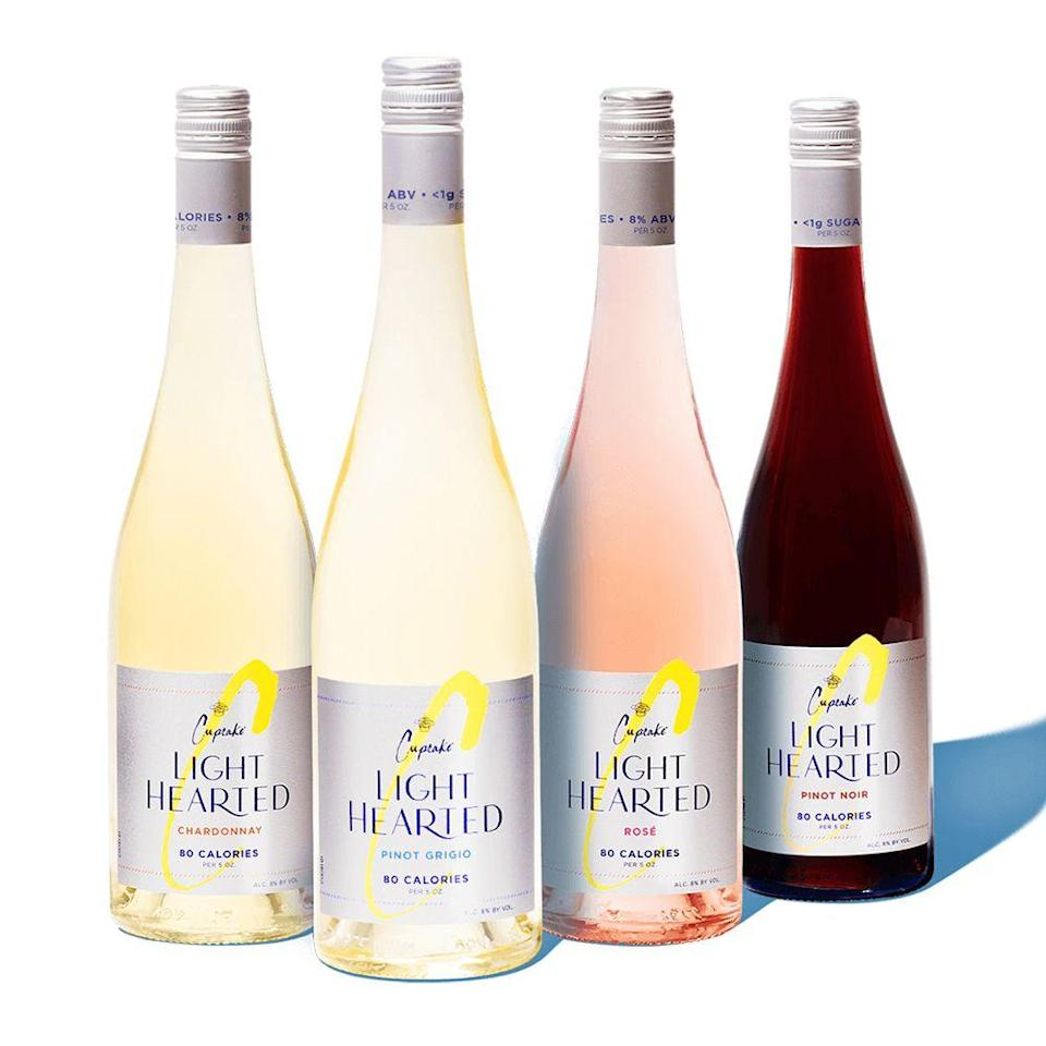 """<p><a class=""""link rapid-noclick-resp"""" href=""""https://www.totalwine.com/wine/rose-blush-wine/rose-blend/cupcake-light-hearted-rose/p/231088750-1"""" rel=""""nofollow noopener"""" target=""""_blank"""" data-ylk=""""slk:SHOP NOW"""">SHOP NOW</a></p><p><strong>Category:</strong> Wine</p><p><strong>Release:</strong> July 2020</p><p>The worst thing about drinking alcohol? Those rough hangovers the next morning that leave you feel sluggish. Cupcake Vineyards has just released its new <a href=""""https://www.totalwine.com/wine/rose-blush-wine/rose-blend/cupcake-light-hearted-rose/p/231088750-1"""" rel=""""nofollow noopener"""" target=""""_blank"""" data-ylk=""""slk:Cupcake LightHearted"""" class=""""link rapid-noclick-resp"""">Cupcake LightHearted</a> line, which has 80 calories and less than 1 gram of sugar per serving.</p><p>The line includes Chardonnary, Pinot Grigio, Rosé, and Pinot Noir, which all have 8% ABV in each serving. You can find the 750-milliliter bottles at retailers nationwide for $9.99 each.</p>"""