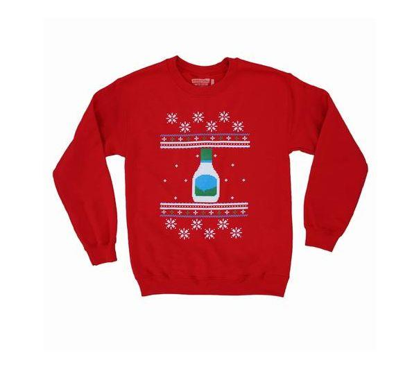 "Buy the Hidden Valley <a href=""https://www.flavourgallery.com/collections/hidden-valley-ranch/products/hidden-valley-ranch-unisex-holiday-sweater"" target=""_blank"">""Not Your Ugly Christmas"" sweater</a> for $40"