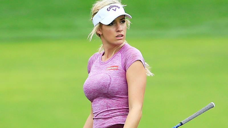Paige Spiranac, pictured here in action at the 2015 Omega Dubai Ladies Masters.
