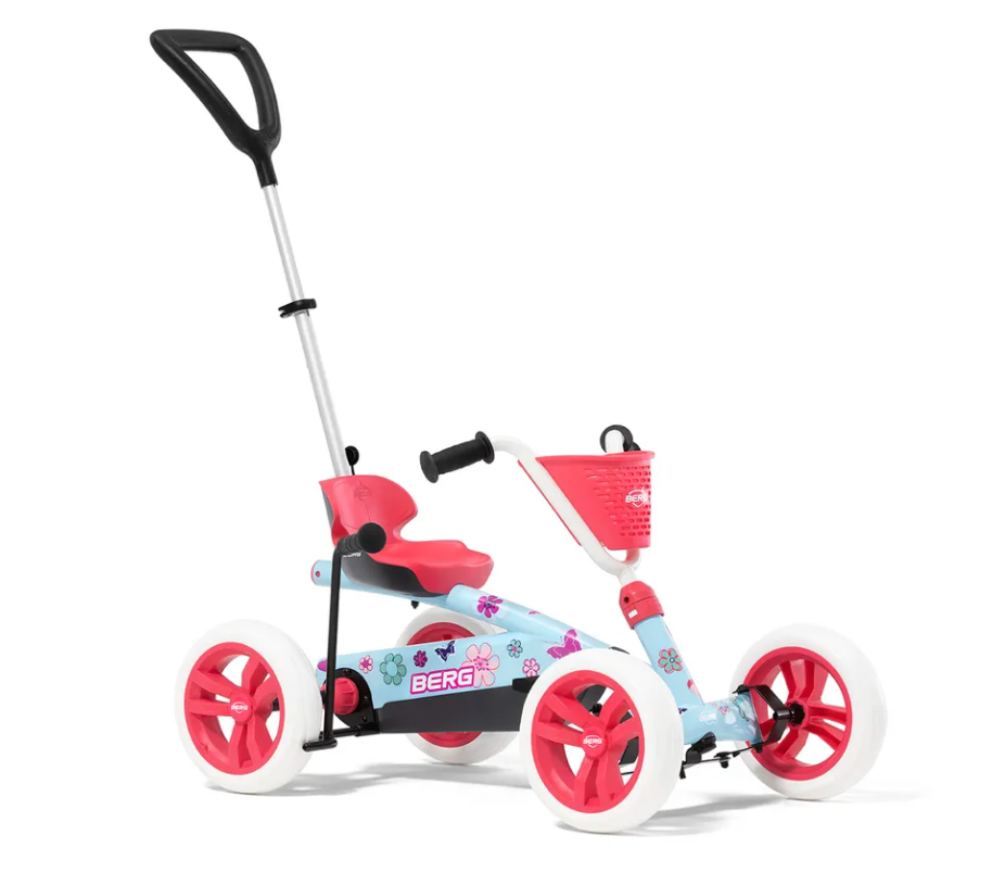 four-wheeled toddler bike with handle