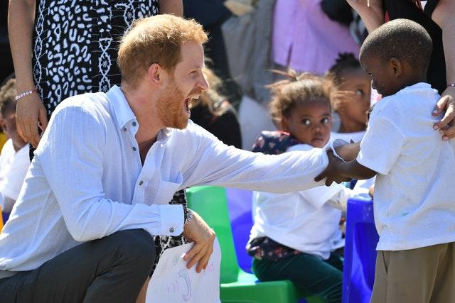 Harry visits the Nyanga Township in Cape Town