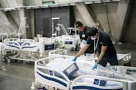 Chilean authorities set up a temporary hospital in Santiago in expectation of a rise in COVID-19 coronavirus patients