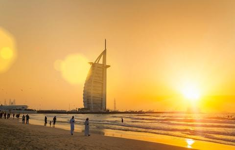 Burj Arab hotel - Credit: Getty
