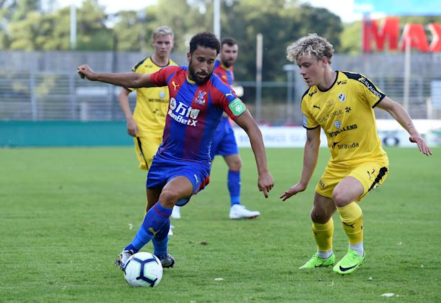 Soccer Football - Pre Season Friendly - Halmstads BK v Crystal Palace - Orjans Vall, Halmstad, Sweden - July 16, 2018 Crystal Palace's Andros Townsend in action REUTERS/Fabian Bimmer