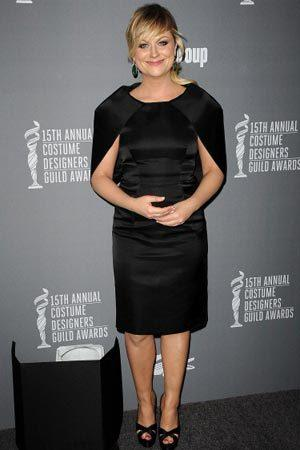 <p>As one of Hollywood's funniest women, Amy Poehler managed to pull of this Prada cape dress at the 15th Annual Costume DEsigners Guild Awards.</p>