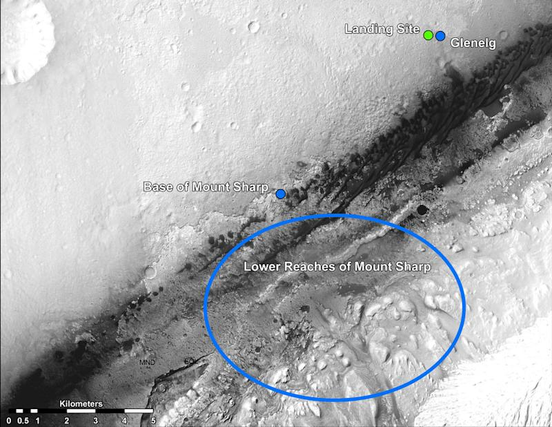 This is Where NASA's Mars Rover Curiosity is Headed [PICS]