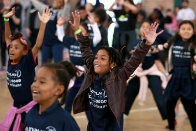 Youth participating in New Orleans Day of Sport 2018