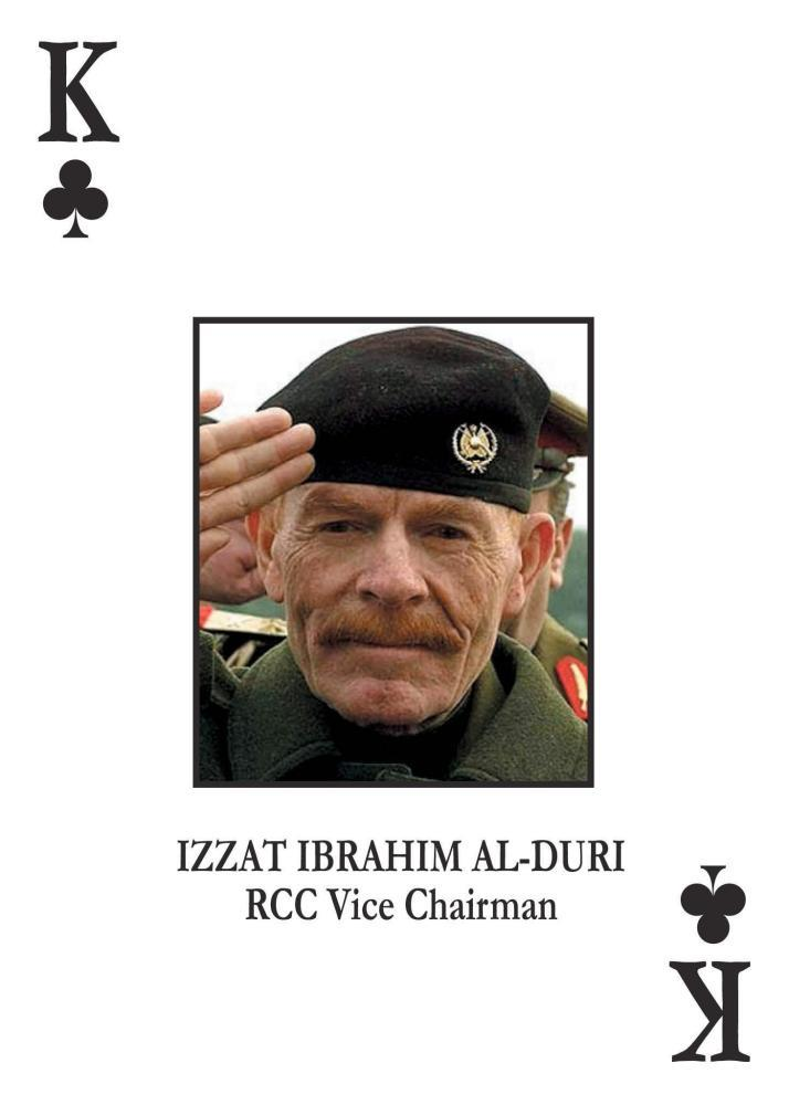 Izzat Ibrahim al-Douri depicted as the King of Clubs in this US Deparment of Defense handout.