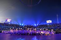 <p>A general view during the Opening Ceremony of the PyeongChang 2018 Winter Olympic Games at PyeongChang Olympic Stadium on February 9, 2018 in Pyeongchang-gun, South Korea. (Photo by Matthias Hangst/Getty Images) </p>