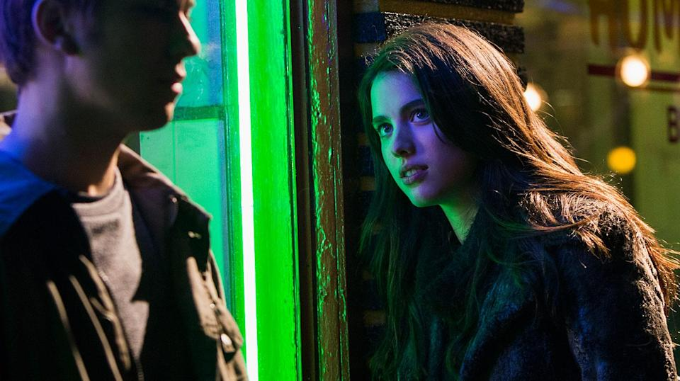 Nat Wolff and Margaret Qualley play deadly loves Light and Mia in 'Death Note'. (Netflix)