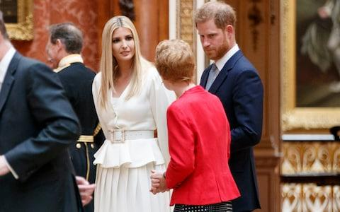 Prince Harry talks to Ivanka Trump - Credit: Tolga Akmen - WPA Pool/Getty Images