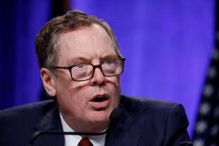 United States Trade Representative Robert Lighthizer speaks at a news conference prior to the inaugural round of North American Free Trade Agreement renegotiations in Washington
