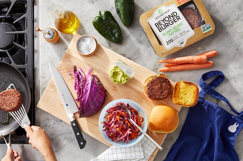 Blue Apron meal kit with Beyond Meat offering