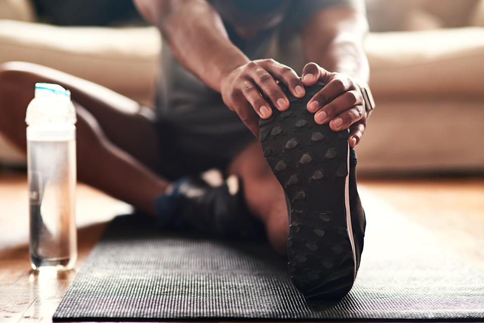 Exercising is another way to help ease anxiety and boost wellbeing. (Getty Images)