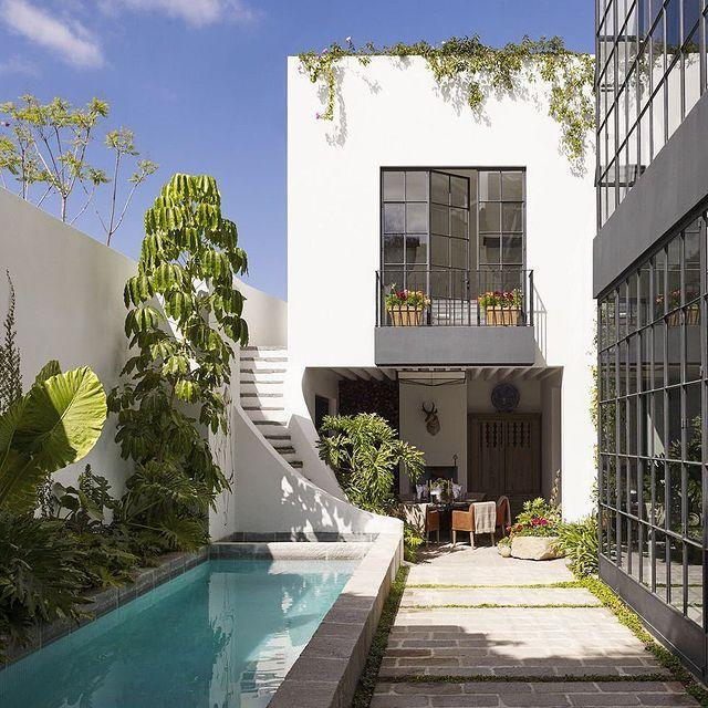 "<p>Chief among the creative dwellers in San Miguel de Allende, Mexico is interior designer Rela Gleason, whose home speaks the local language. Here, a schefflera tree grows beside the swimming pool, which is framed, along with the flooring, in adoquín.</p><p><a class=""link rapid-noclick-resp"" href=""https://www.elledecor.com/design-decorate/house-interiors/a15895675/san-miguel-de-allende-house-tour/"" rel=""nofollow noopener"" target=""_blank"" data-ylk=""slk:TOUR THE HOME"">TOUR THE HOME</a></p><p><a href=""https://www.instagram.com/p/CBEcniJJHzz/"" rel=""nofollow noopener"" target=""_blank"" data-ylk=""slk:See the original post on Instagram"" class=""link rapid-noclick-resp"">See the original post on Instagram</a></p>"