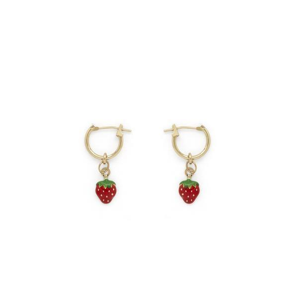 """<h3>Stella & Bow Rio Strawberry Hoops<br></h3> <br>Squee! We've never seen a prettier or more summer-ready pair of earrings. Who knew strawberries played so nice with solid gold?<br><br><em>Shop <strong><a href=""""https://www.stellaandbow.com/"""" rel=""""nofollow noopener"""" target=""""_blank"""" data-ylk=""""slk:Stella & Bow"""" class=""""link rapid-noclick-resp"""">Stella & Bow</a></strong></em><br><br><strong>Stella and Bow</strong> Rio strawberry hoops, $, available at <a href=""""https://go.skimresources.com/?id=30283X879131&url=https%3A%2F%2Fwww.stellaandbow.com%2Fcollections%2Ffine-jewelry%2Fproducts%2Frio-strawberry-hoops"""" rel=""""nofollow noopener"""" target=""""_blank"""" data-ylk=""""slk:Stella and Bow"""" class=""""link rapid-noclick-resp"""">Stella and Bow</a><br><br><br>"""