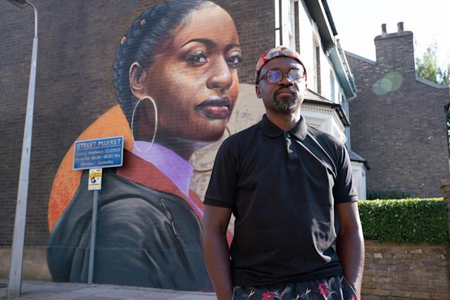 The mural has been painted by artist Dreph. (BBC/Jack Barnes)