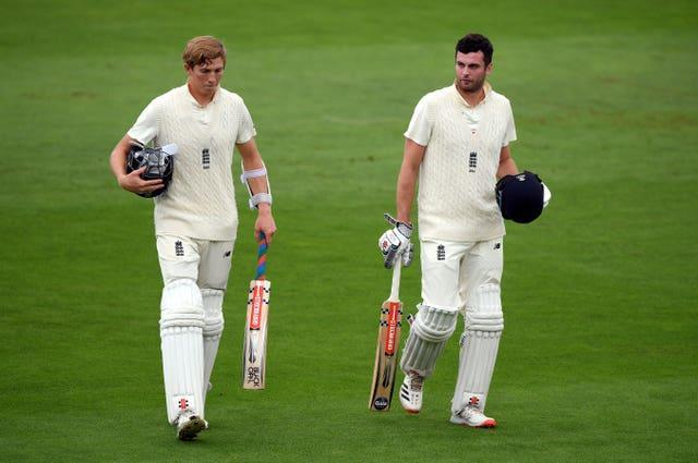 Zak Crawley (left) and Dom Sibley (right) made one half-century each.