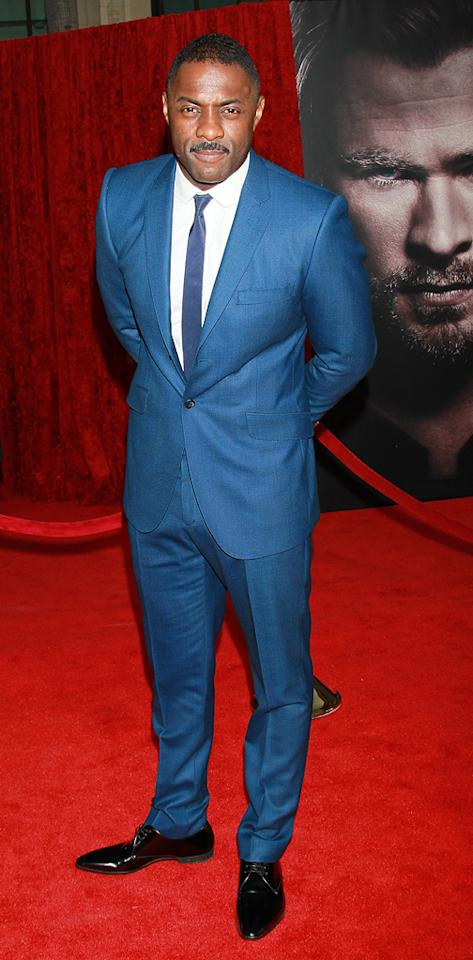 """<a href=""""http://movies.yahoo.com/movie/contributor/1804751393"""">Idris Elba</a> attends the Los Angeles premiere of <a href=""""http://movies.yahoo.com/movie/1810026342/info"""">Thor</a> on May 2, 2011."""