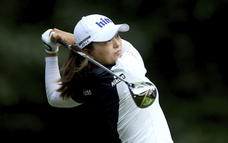 Women's British Open: Bronte Law & Georgia Hall in contention at Woburn