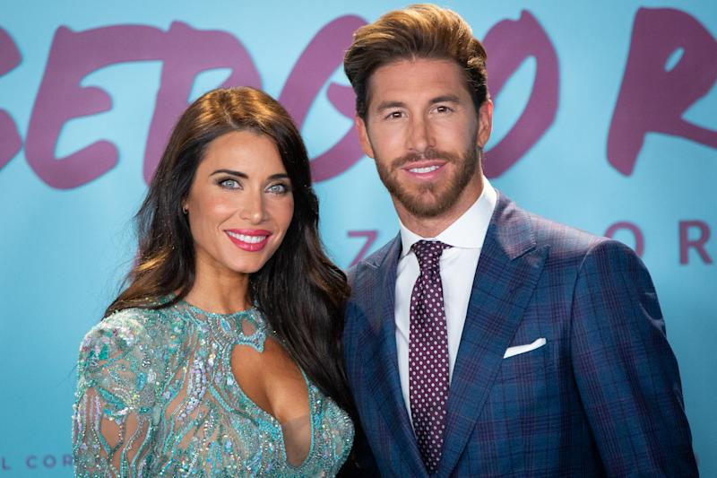 """MADRID, SPAIN - SEPTEMBER 10: Spain's National Team and Real Madrid captain Sergio Ramos and wife Pilar Rubio attend """"El Corazon de Sergio Ramos"""" premiere at the Reina Sofia museum on September 10, 2019 in Madrid, Spain. (Photo by Pablo Cuadra/WireImage)"""