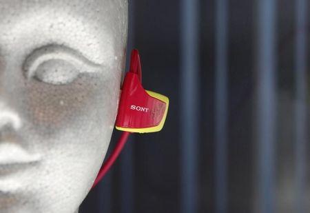 Sony's Walkman, a portable music player, is displayed in Tokyo