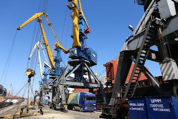 The Ukrainian port of Mariupol lies on the northern edge of the Sea of Azov, with vital access to heavy industry in the east of the country (AFP Photo/Aleksey FILIPPOV)