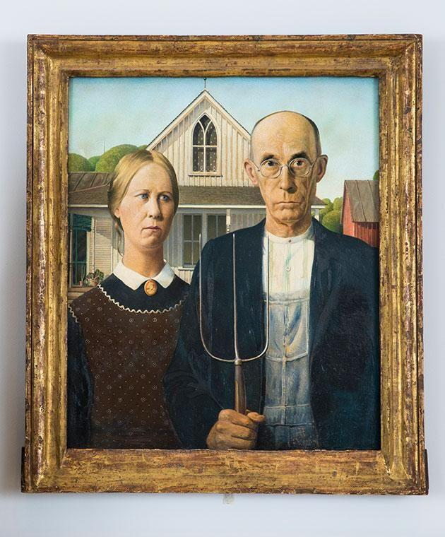 Art buffs will recognise American Gothic. Photo: Getty