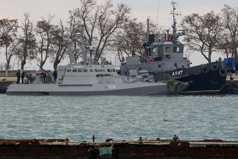 Russia fired on and seized three Ukrainian navy vessels, capturing two dozen sailors near the Kerch Strait last November as they tried to pass from the Black Sea to the Azov Sea