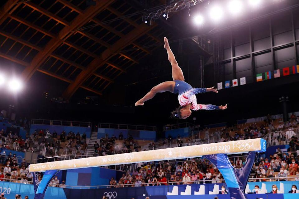 <p>Marking her seventh Olympic medal, the USA's Simone Biles came third and was awarded the bronze medal in the balance beam final. It was her only final of this year's games, after she pulled out of other events due to mental health concerns.</p>