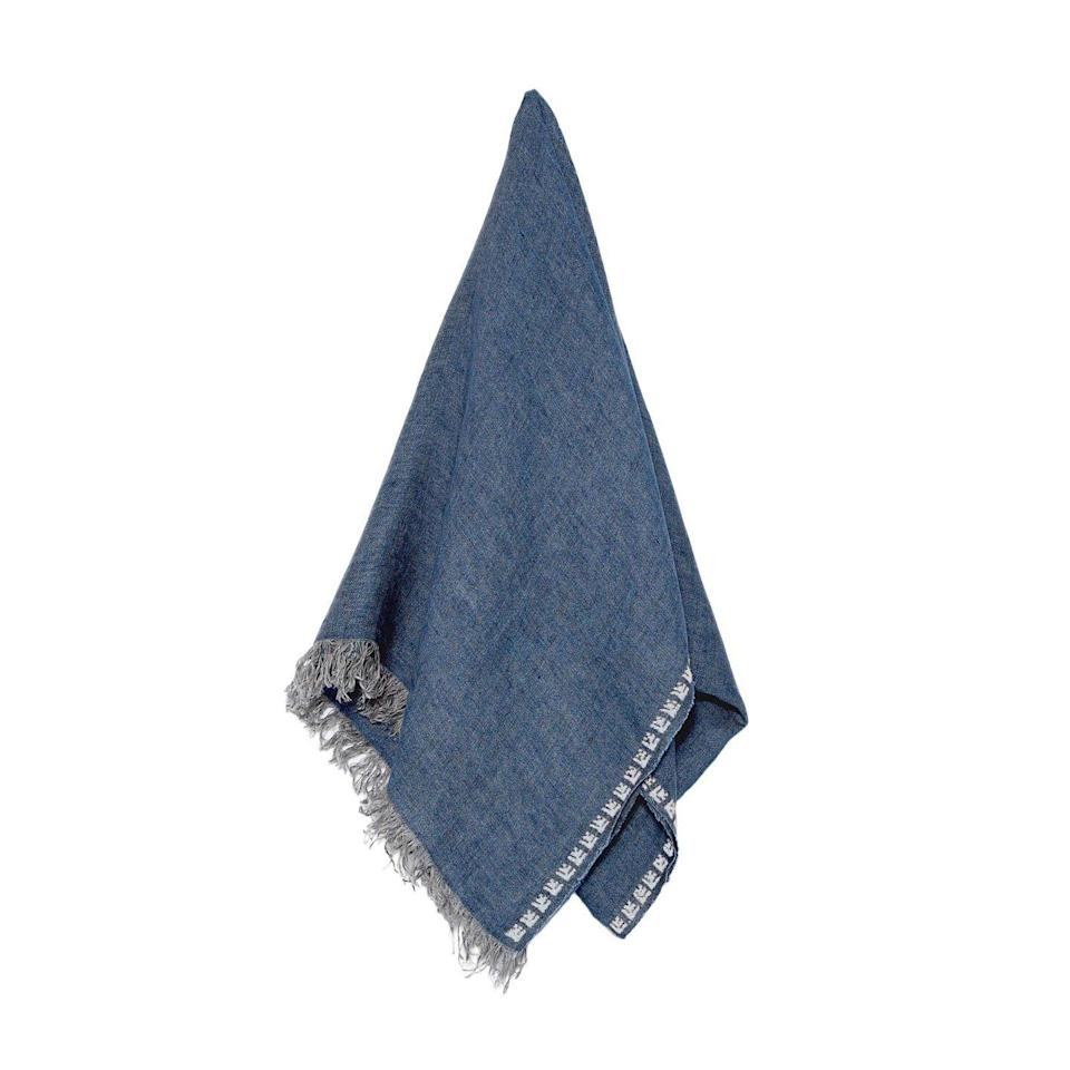 """<p>A shawl is an essential for transitional dressing; elegantly wrap up as those sunny days cool into mild evenings.</p><p><a class=""""link rapid-noclick-resp"""" href=""""https://sepjordan.com/collections/cashmere-linen-shawls/products/blue-linen-unisex-rose"""" rel=""""nofollow noopener"""" target=""""_blank"""" data-ylk=""""slk:SHOP NOW"""">SHOP NOW</a></p><p>£94, Sep Jordan.</p>"""