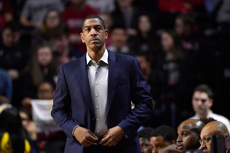 Former Connecticut Huskies head coach Kevin Ollie during a 2018 game.