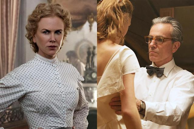 "<p>Leave it to Sofia Coppola and Paul Thomas Anderson to put the ""fun"" back in ""fungi."" Delectable — and deadly! — mushrooms play pivotal parts in the climaxes of the directors' respective period pieces, the Civil War-era <em>The Beguiled</em> and the '50s-era <em>Phantom Thread</em>. That's one way to ensure that they never have any unwelcome dinner guests. (Photo: Focus Features /Courtesy Everett Collection) </p>"