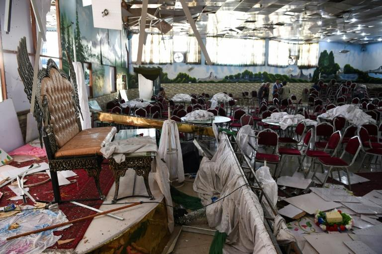 Saturday's attack exposes the vulnerability of the wedding halls (AFP Photo/Wakil KOHSAR)