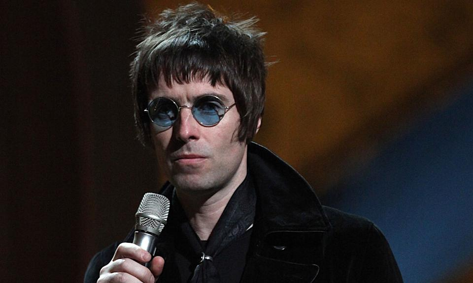 "Liam Gallagher put on a typical Liam Gallagher display at the 2010 Brits when he threw Oasis' award for Best Album of 30 Years for <em>(What's The Story) Morning Glory?</em> into the audience along with the microphone after a sweaty acceptance speech. He was then launched into a feud with host Peter Kay who called him a ""k**bhead"", as he retaliated by <a href=""https://twitter.com/liamgallagher/status/9237577581?lang=en"" rel=""nofollow noopener"" target=""_blank"" data-ylk=""slk:calling him a &quot;fat f***&quot;"" class=""link rapid-noclick-resp"">calling him a ""fat f***""</a>. (PA)"