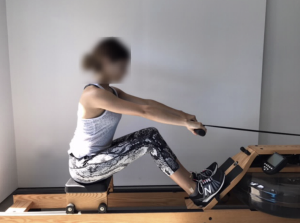 Olivia Jade Giannulli posing on a rowing machine in 2017. (Image: The United States Attorneys Office, District of Massachusetts)