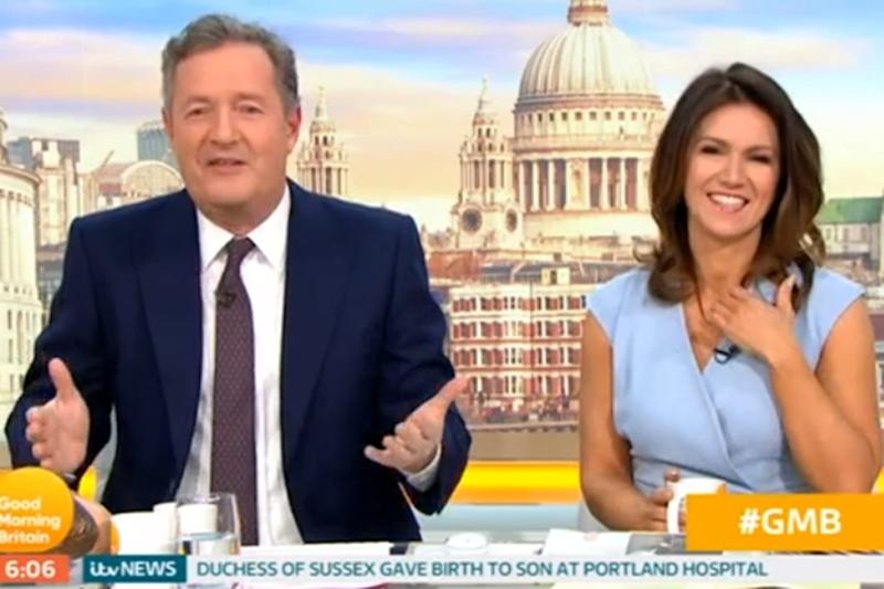 Congratulations: Piers Morgan eventually sent well wishes to the new parents (ITV)