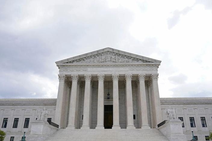 A view of the Supreme Court in Washington, Thursday, April 22, 2021. (AP Photo/Susan Walsh) ORG XMIT: DCSW119