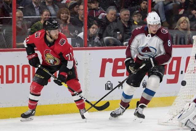 NHL: Colorado Avalanche at Ottawa Senators