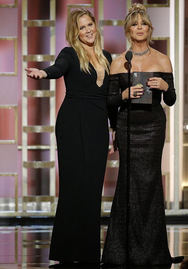 No doubt Amy Schumer and Goldie Hawn will wear all black. Source: Getty