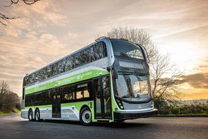 NFI unveils its first zero-emission, three-axle double deck bus for North America, the Alexander Dennis Enviro500EV CHARGE