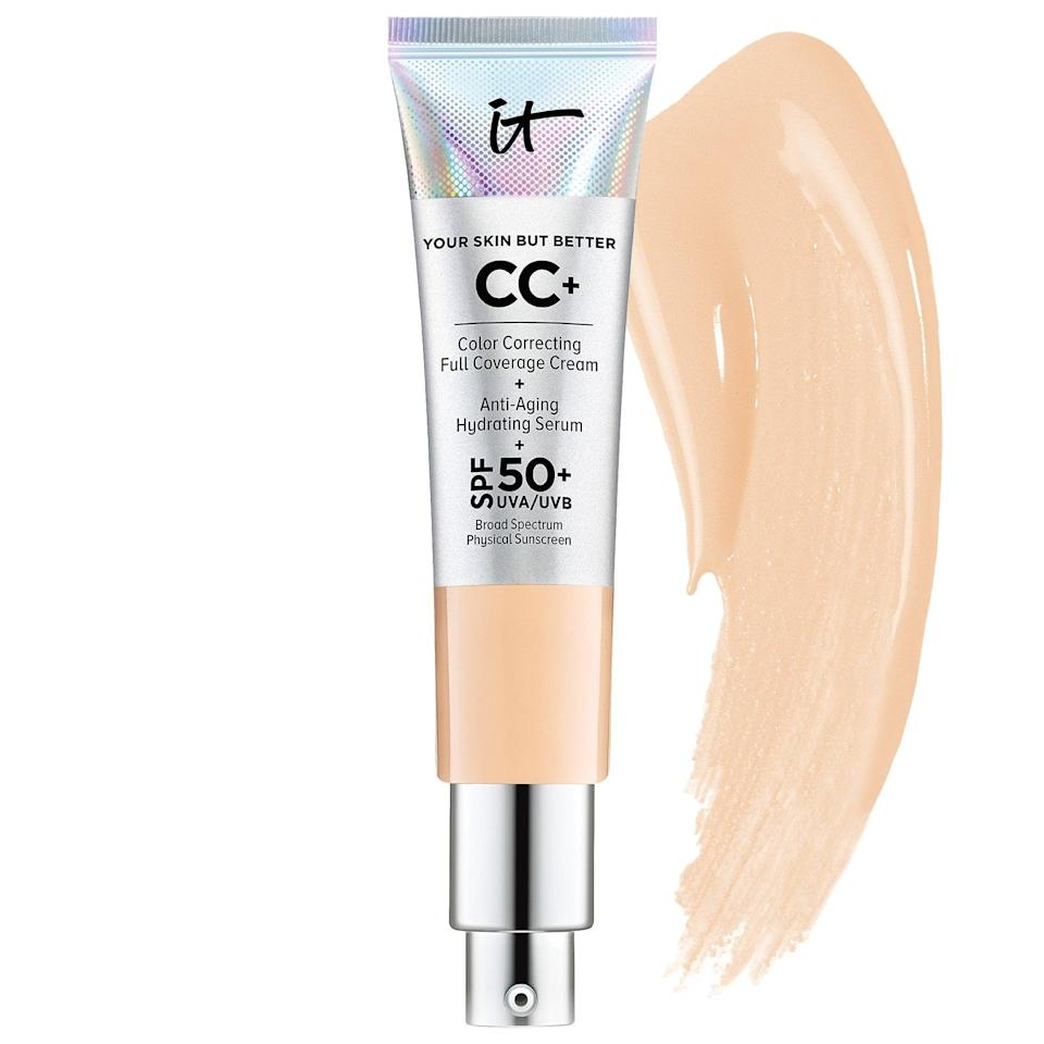 <p>Both the <span>IT Cosmetics CC+ Cream with SPF 50+</span> ($40) and the <span>IT Cosmetics CC+ Cream Oil-Free Matte with SPF 40</span> ($40) pack skin treats like collagen, peptides, and hyaluronic acid, but the oil-free version adds in charcoal and clay to absorb excess oil. This popular summer choice cuts several steps from a beauty routine, as it's a primer, serum, moisturizer, foundation, color-corrector, and concealer all in one - with bonus SPF, too.</p>