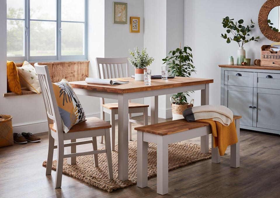 """<p><strong><a href=""""https://www.housebeautiful.com/uk/decorate/display/a34146687/homebase-christmas-pre-lit-hanging-baskets/"""" rel=""""nofollow noopener"""" target=""""_blank"""" data-ylk=""""slk:Homebase"""" class=""""link rapid-noclick-resp"""">Homebase</a> has launched its stylish autumn/winter 2020 home range in store and online, offering dining sets, storage solutions and everything in between at affordable prices.</strong></p><p>The home and garden retailer has reinvented three existing collections – Homeland Flora, Deco Luxe and Pioneer – for the range, as well as introducing new practical storage solutions. First up is Deco Luxe, full of elegance and glamour with rich jewel tones, while Homeland Flora is for everyday contemporary living, mixing natural textures and materials with bright colours. The last trend, Pioneer, offers contrasting finishes and stripped back industrial vibes.</p><p>'We're spending more time than ever at home and it's important that we love the homes we live in,' says Nina Findley, <a href=""""https://www.homebase.co.uk/"""" rel=""""nofollow noopener"""" target=""""_blank"""" data-ylk=""""slk:Homebase"""" class=""""link rapid-noclick-resp"""">Homebase</a> Trading Director of Home. 'Whether you're looking to redecorate a whole room or make smaller changes with fashionable accessories, our new range has something for everyone.<br></p><p>'Following on from the success of our <a href=""""https://www.housebeautiful.com/uk/decorate/a32919031/homebase-occasional-chair/"""" rel=""""nofollow noopener"""" target=""""_blank"""" data-ylk=""""slk:Occasional Chair"""" class=""""link rapid-noclick-resp"""">Occasional Chair</a>, we know that our customers are looking for on-trend, high quality pieces that don't break the bank. It's important that we can provide our customers with versatile and stylish home furnishings that are inspirational but work for everyday life too.'</p><p>Take a closer look at the range below...</p>"""