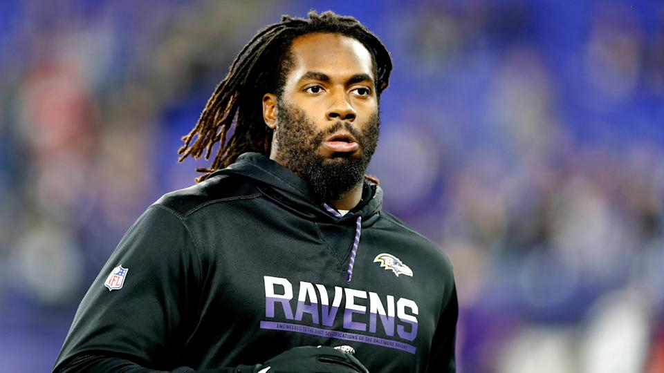 Mandatory Credit: Photo by Julio Cortez/AP/Shutterstock (10525044n)Baltimore Ravens outside linebacker Matt Judon works out prior to an NFL divisional playoff football game against the Tennessee Titans, in Baltimore.
