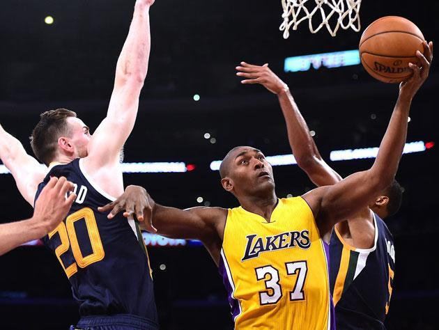 Metta World Peace's vertical is not what it once was. (Getty)