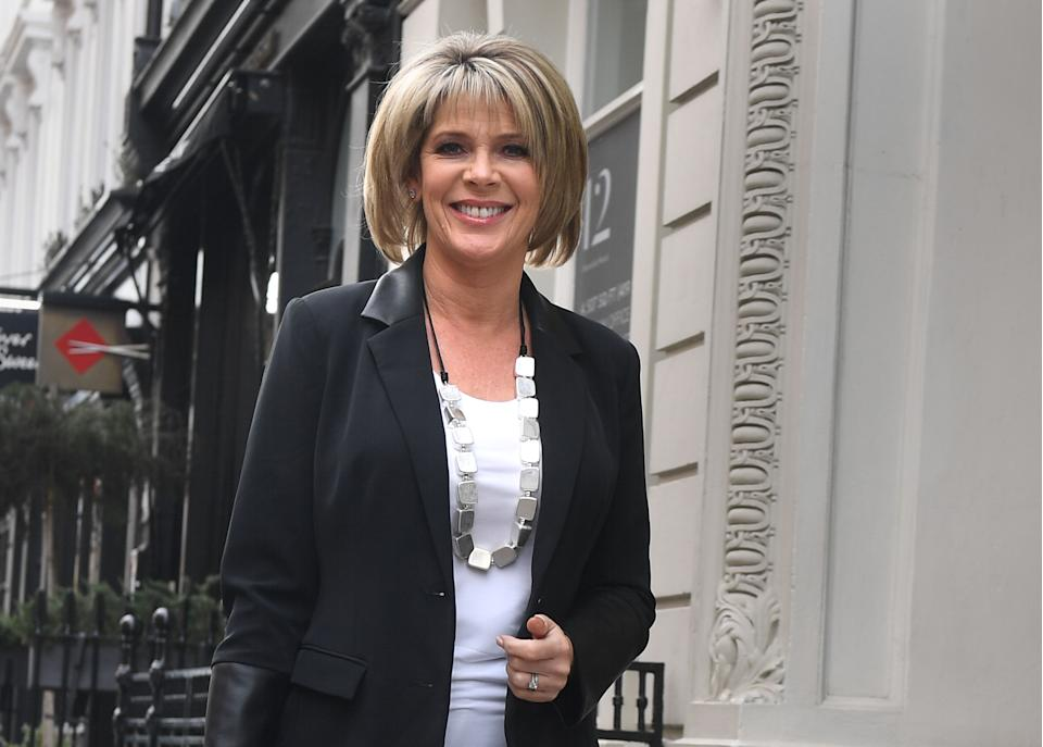 Ruth Langsford arrives for the launch at a hotel in central London for a range of clothes with QVC. (Photo by Victoria Jones/PA Images via Getty Images)