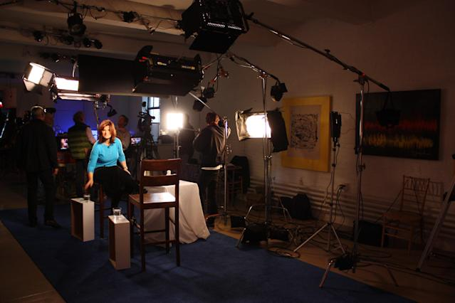 The Katie's Take set – almost ready to shoot!