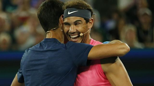 As they appeared at an exhibition to raise funds for those affected by the Australian bushfires, Rafael Nadal announced a big donation.