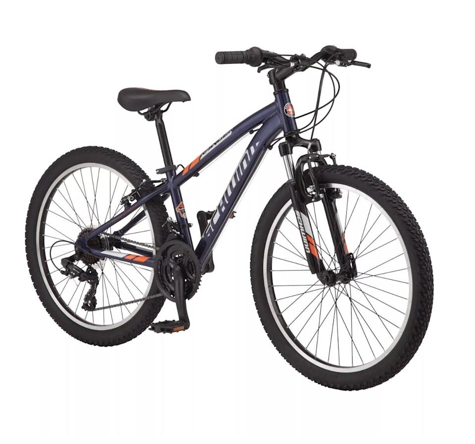 """<p>Treat your kid to their first grown-up bike with this <a href=""""https://www.popsugar.com/buy/Schwinn-Ranger-24-Kids-Mountain-Bike-569751?p_name=Schwinn%20Ranger%2024%22%20Kids%27%20Mountain%20Bike&retailer=target.com&pid=569751&price=220&evar1=moms%3Aus&evar9=32519221&evar98=https%3A%2F%2Fwww.popsugar.com%2Ffamily%2Fphoto-gallery%2F32519221%2Fimage%2F44850479%2FSchwinn-Ranger-24-Kids-Mountain-Bike&list1=gifts%2Choliday%2Cgift%20guide%2Cgifts%20for%20kids%2Ckid%20shopping%2Ctweens%20and%20teens%2Cgifts%20for%20teens&prop13=api&pdata=1"""" class=""""link rapid-noclick-resp"""" rel=""""nofollow noopener"""" target=""""_blank"""" data-ylk=""""slk:Schwinn Ranger 24&quot; Kids' Mountain Bike"""">Schwinn Ranger 24"""" Kids' Mountain Bike</a> ($220). Its sturdy and reliable frame will last them for years.</p>"""