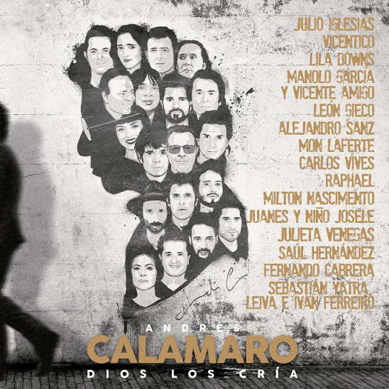 """This cover image released by Universal Music Latin Entertainment shows """"Dios los cria,"""" the latest album by Andres Calamaro. (Universal Music Latin Entertainment via AP)"""